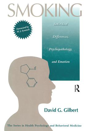 Smoking: Individual Differences, Psychopathology, And Emotion (Hardback) book cover
