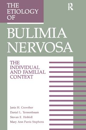 The Etiology Of Bulimia Nervosa: The Individual And Familial Context: Material Arising From The Second Annual Kent Psychology Forum, Kent, October 1990, 1st Edition (Hardback) book cover
