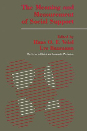 The Meaning And Measurement Of Support: 1st Edition (Paperback) book cover