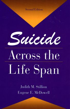 Suicide Across The Life Span: Premature Exits book cover