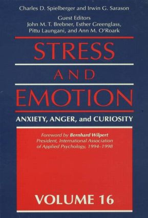 Stress And Emotion: Anxiety, Anger, & Curiosity (Hardback) book cover