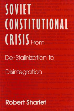 Soviet Constitutional Crisis: 1st Edition (Paperback) book cover