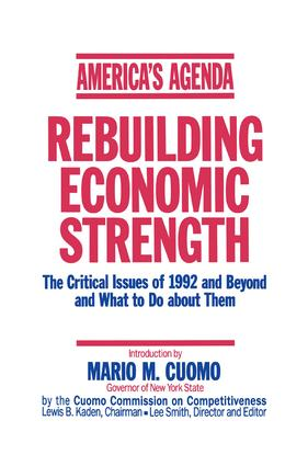 America's Agenda: Rebuilding Economic Strength