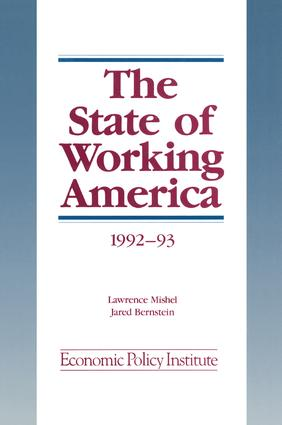 The State of Working America: 1992-93, 2nd Edition (Hardback) book cover
