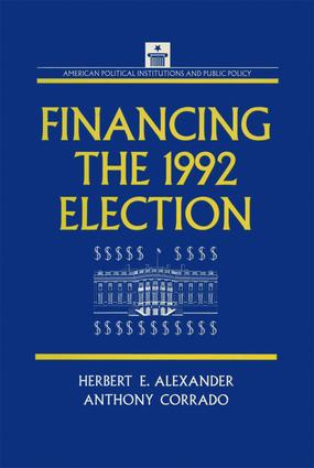 Financing the 1992 Election: 1st Edition (Paperback) book cover