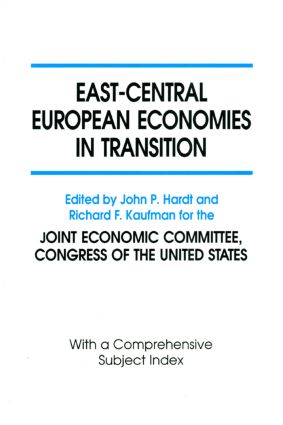 East-Central European Economies in Transition: 1st Edition (Paperback) book cover