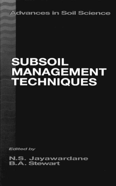 Subsoil Management Techniques: 1st Edition (Hardback) book cover