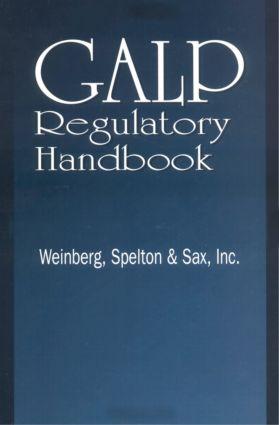 GALP Regulatory Handbook: 1st Edition (Hardback) book cover