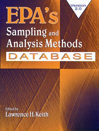 EPA's Sampling and Analysis Methods Database: 1st Edition (CD-ROM) book cover