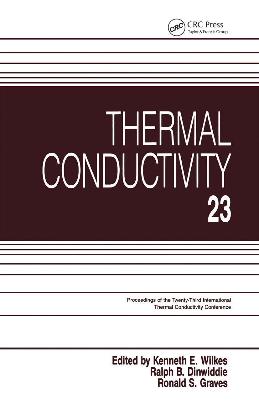 Thermal Conductivity 23: 1st Edition (Hardback) book cover