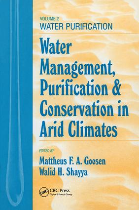 Water Management, Purificaton, and Conservation in Arid Climates, Volume II: Water Purification, 1st Edition (Hardback) book cover