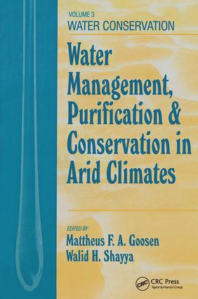 Water Management, Purificaton, and Conservation in Arid Climates, Volume III: Water Conservation, 1st Edition (Hardback) book cover