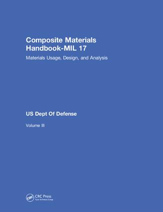 Composite Materials Handbook-MIL 17, Volume III: Materials Usage, Design, and Analysis, 1st Edition (Hardback) book cover