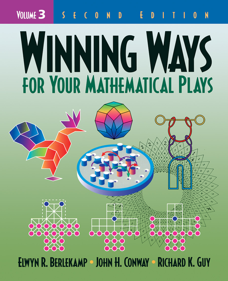 Winning Ways for Your Mathematical Plays, Volume 3: 2nd Edition (Paperback) book cover