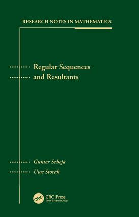 Regular Sequences and Resultants: 1st Edition (Hardback) book cover
