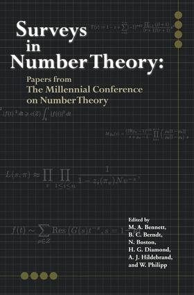 Surveys in Number Theory: Papers from the Millennial Conference on Number Theory, 1st Edition (Paperback) book cover