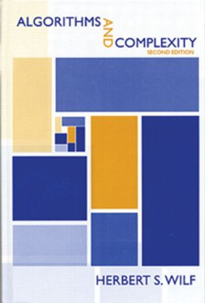 Algorithms and Complexity: 2nd Edition (Hardback) book cover