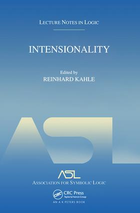 Intensionality: Lecture Notes in Logic 22, 1st Edition (Paperback) book cover