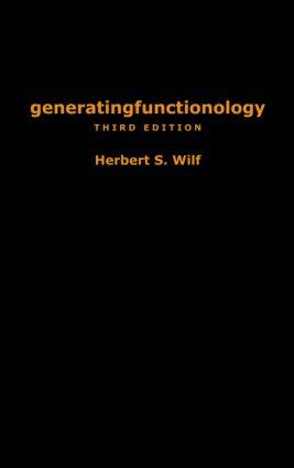 generatingfunctionology: Third Edition, 3rd Edition (Hardback) book cover