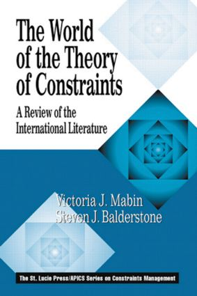 The World of the Theory of Constraints: A Review of the International Literature book cover