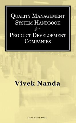 Quality Management System Handbook for Product Development Companies: 1st Edition (Hardback) book cover