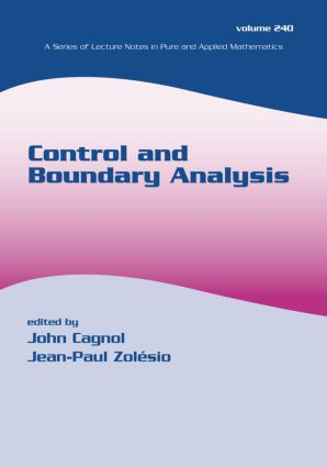 Control and Boundary Analysis: 1st Edition (Paperback) book cover