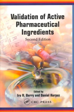 Validation of Active Pharmaceutical Ingredients: 1st Edition (Hardback) book cover