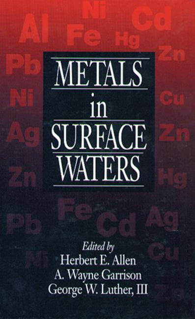 Metals in Surface Waters: 1st Edition (Hardback) book cover