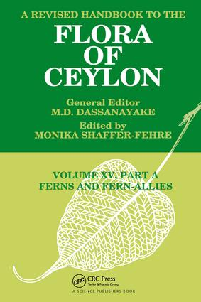 A Revised Handbook to the Flora of Ceylon, Vol. XV, Part A: Ferns and Fern-Allies, 1st Edition (Hardback) book cover
