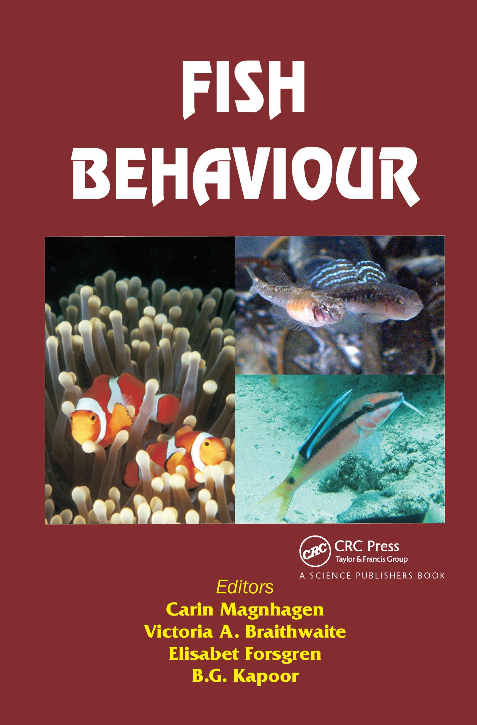 Fish Behaviour: 1st Edition (Hardback) book cover
