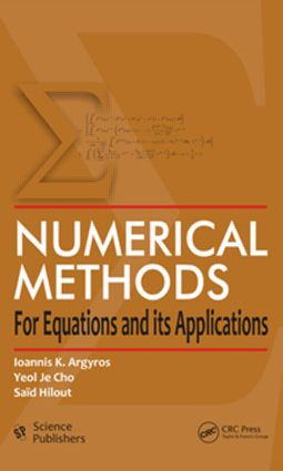 Numerical Methods for Equations and its Applications (Hardback) book cover