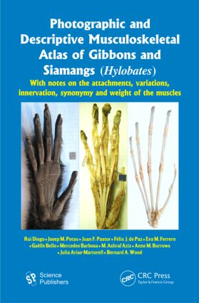 Photographic and Descriptive Musculoskeletal Atlas of Gibbons and Siamangs (Hylobates): With Notes on the Attachments, Variations, Innervation, Synonymy and Weight of the Muscles (Hardback) book cover