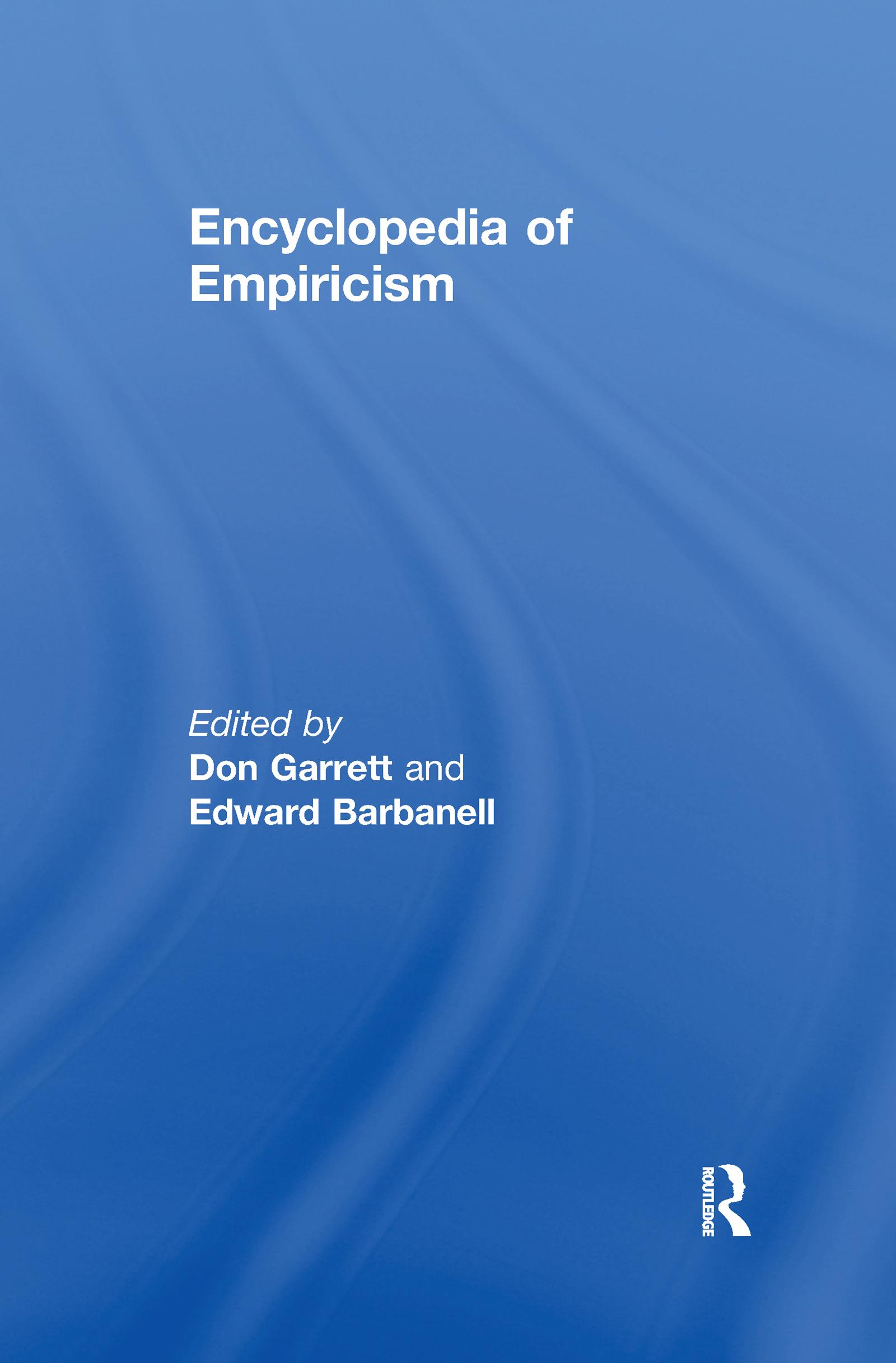 Encyclopedia of Empiricism (Hardback) book cover
