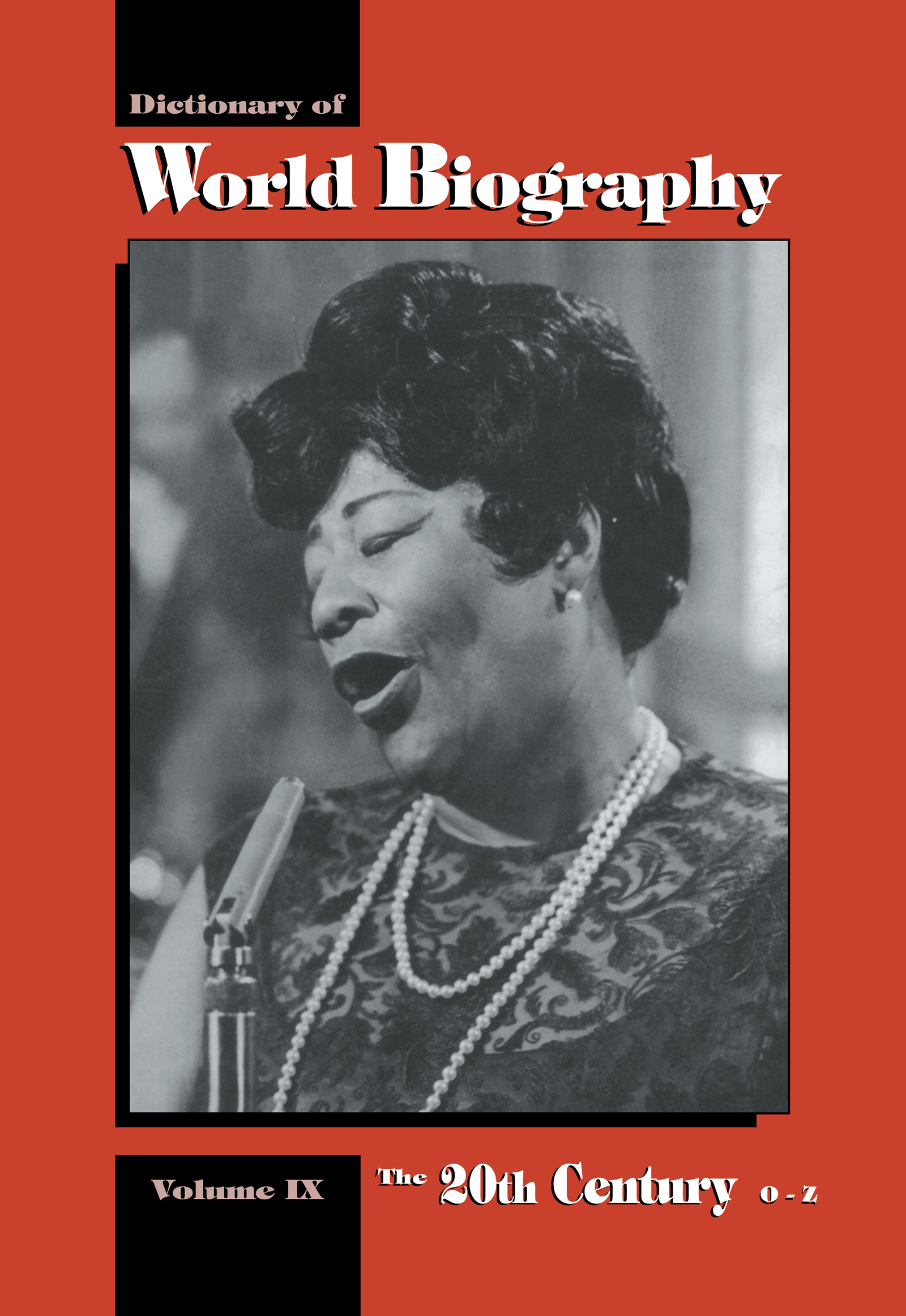 The 20th Century O-Z: Dictionary of World Biography (Hardback) book cover