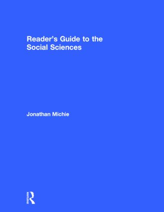 Reader's Guide to the Social Sciences (Hardback) book cover