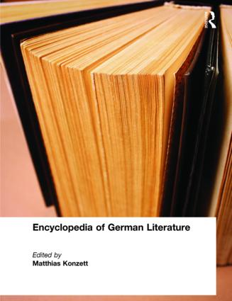 Encyclopedia of German Literature: 1st Edition (Hardback) book cover
