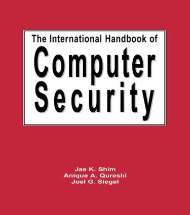 The International Handbook of Computer Security: 1st Edition (Hardback) book cover