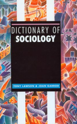 Dictionary of Sociology (Hardback) book cover