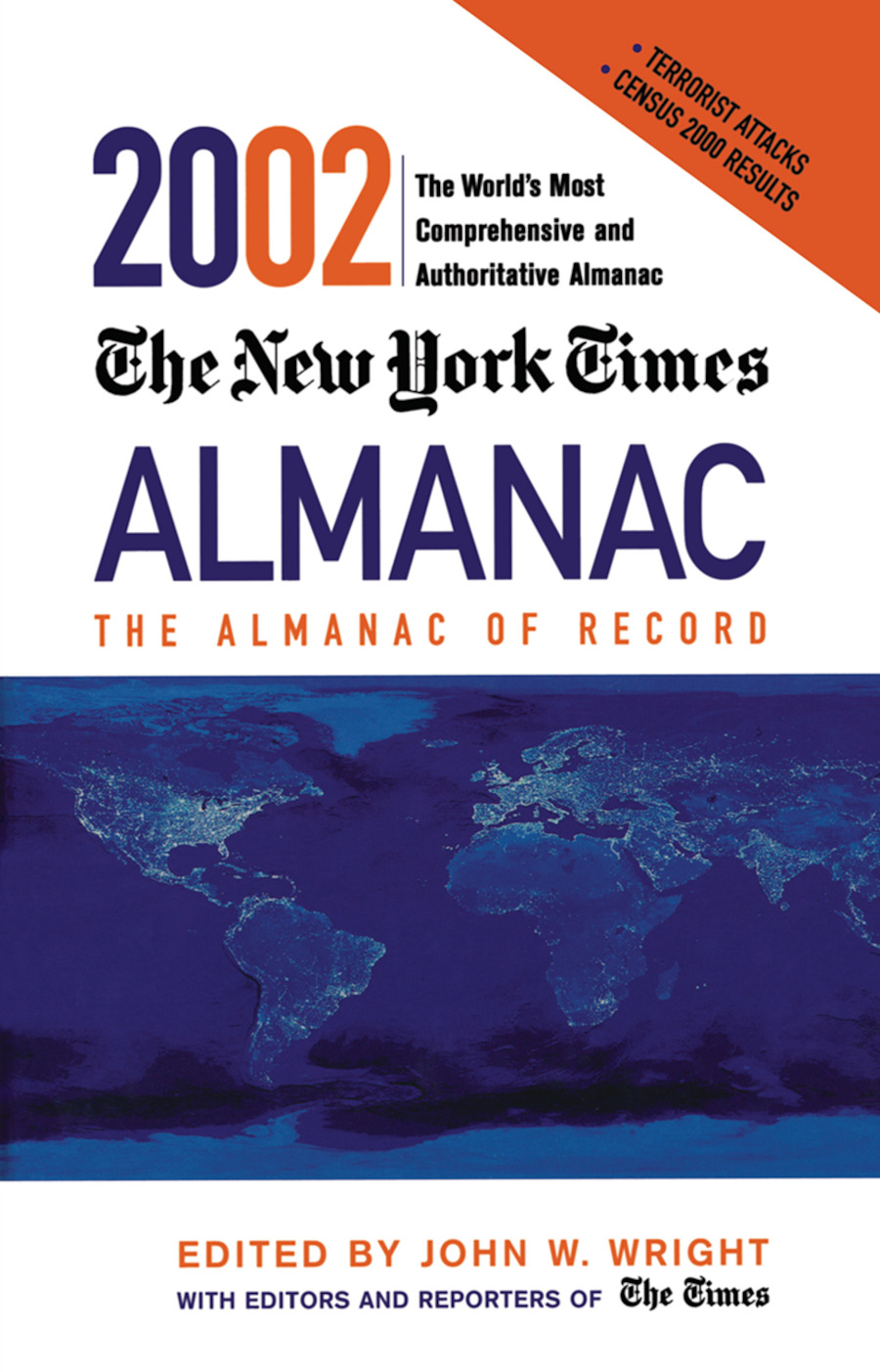 The New York Times Almanac 2002: 1st Edition (Hardback) book cover