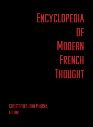 Encyclopedia of Modern French Thought: 1st Edition (Hardback) book cover