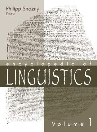 Encyclopedia of Linguistics (e-Book) book cover