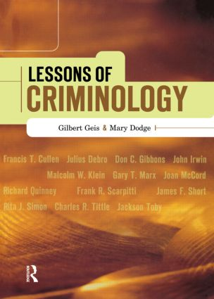 Lessons of Criminology: 1st Edition (Hardback) book cover