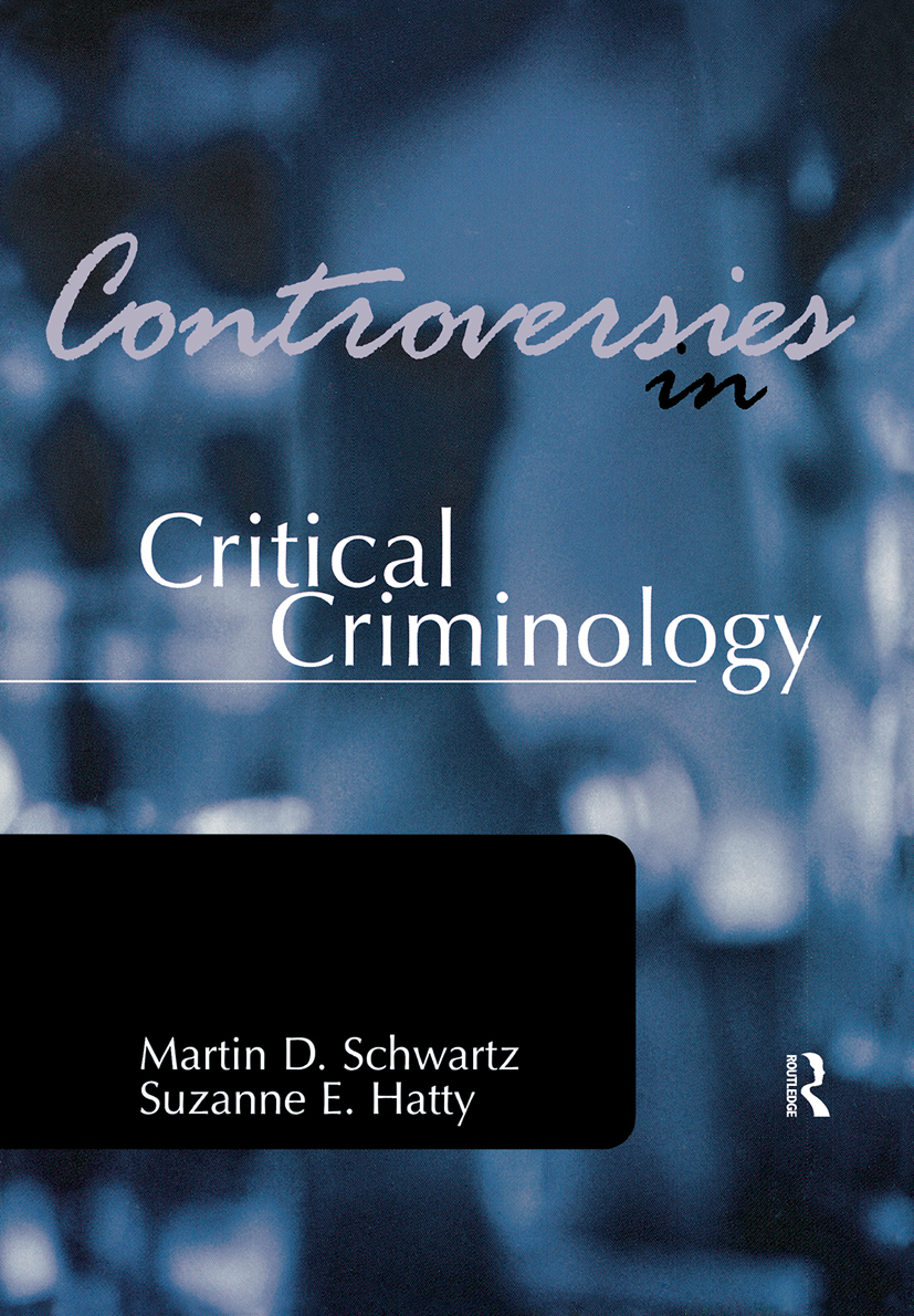Controversies in Critical Criminology: 1st Edition (Paperback) book cover