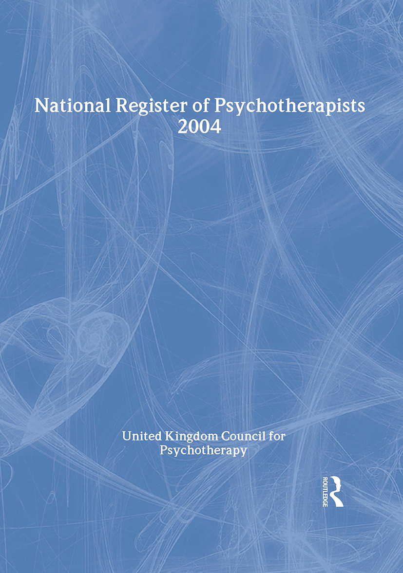 National Register of Psychotherapists 2004: 1st Edition (Paperback) book cover