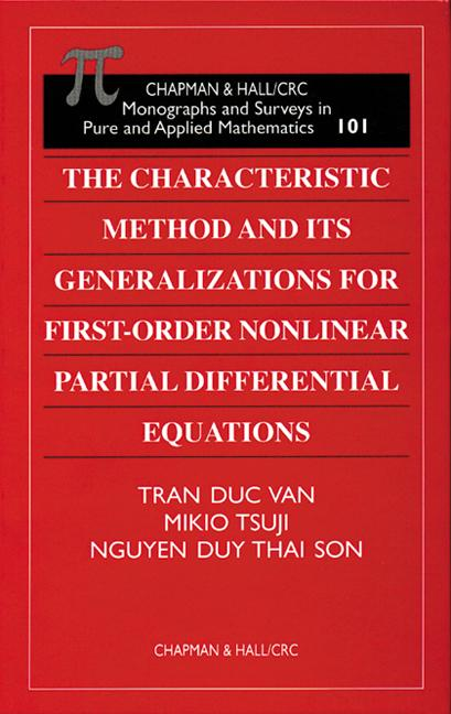 The Characteristic Method and Its Generalizations for First-Order Nonlinear Partial Differential Equations book cover