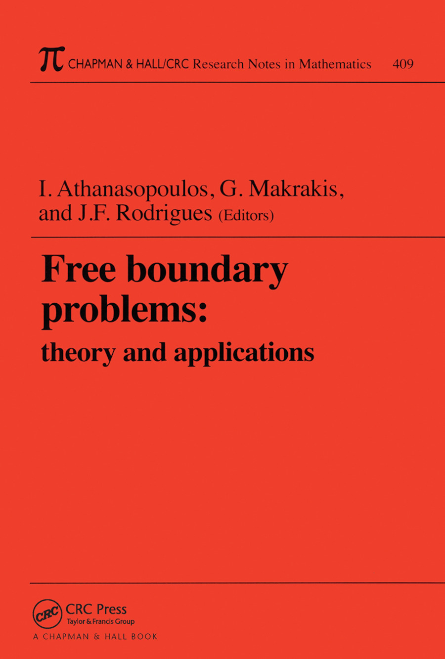 Free Boundary Problems: Theory and Applications, 1st Edition (Paperback) book cover