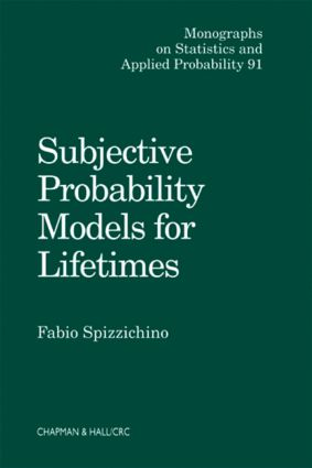 Subjective Probability Models for Lifetimes: 1st Edition (Hardback) book cover