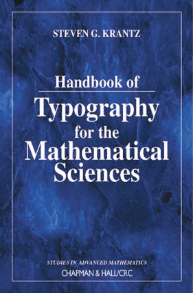 Handbook of Typography for the Mathematical Sciences book cover
