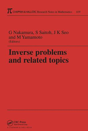 Inverse Problems and Related Topics: 1st Edition (Paperback) book cover