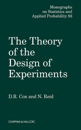 The Theory of the Design of Experiments: 1st Edition (Hardback) book cover